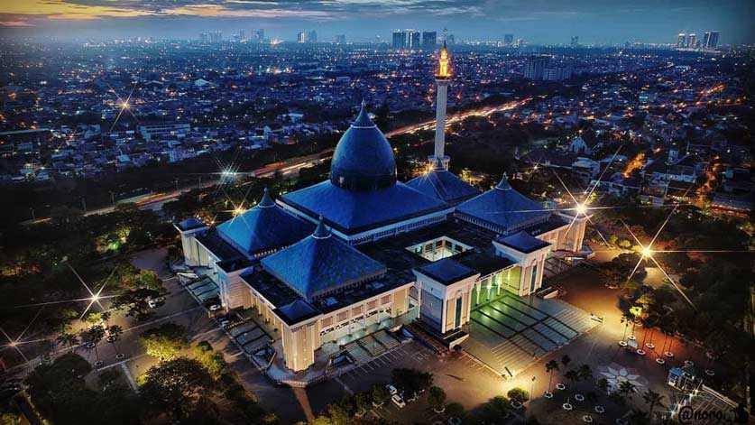 Koreksi Arah Kiblat Masjid Al Akbar Surabaya