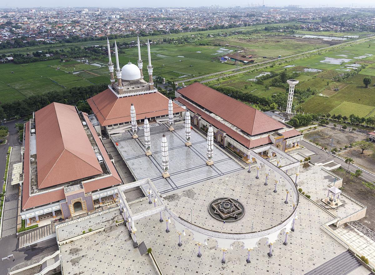 Koreksi Arah Kiblat Masjid Agung Jawa Tengah, Semarang